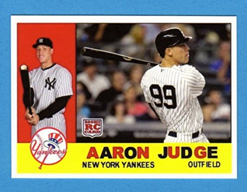 - Aaron Judge (1960 Topps Design) Custom Baseball Card (Bold Color) (Yankees)
