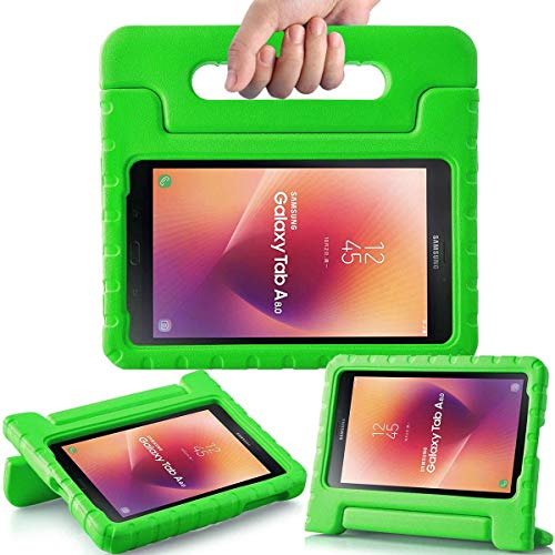 AVAWO Kids Case for New Samsung Galaxy Tab A 8.0 2017 (SM-T380/SM-T385) - Shock-Proof Light Weight Super Protection Handle Stand Case for Samsung Galaxy Tab A 8-inch 2017 Tablet, Green