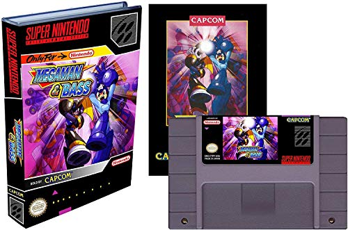 Mega Man & Bass (Super Nintendo / SNES) - ENGLISH - Reproduction Cartridge with Universal Game Case and Full ENGLISH Manual