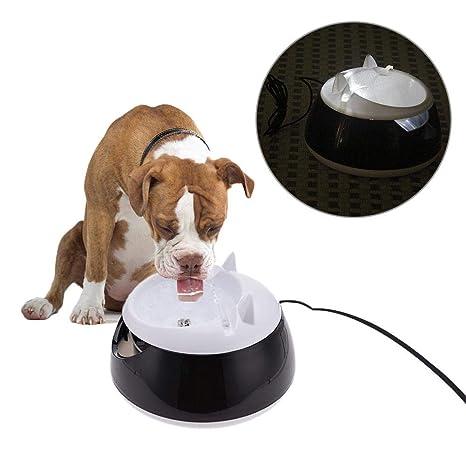 AILHL Dispensador de Agua automático para Animales de compañía, Fuente de Agua automática con Forro de Acero Inoxidable, para Perros de pequeño y ...