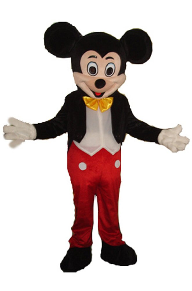 JWUP Mickey Mouse Mascot Costumes for Adults Christmas Halloween Outfit Fancy Dress Adult Size