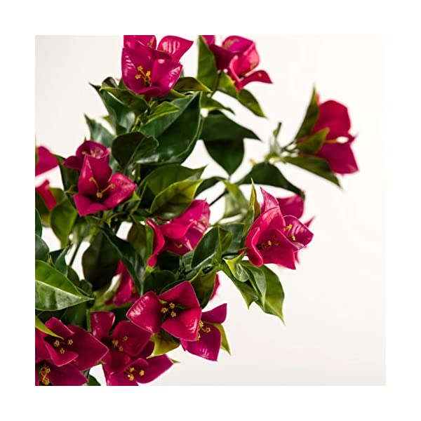 Windowbox Outdoor Artificial Bougainvillea Bush 35 inches – Lavender/Fuchsia Color Flowers