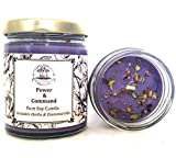 Power & Command 6 oz Soy Herbal Spell Candle for Influence, Control, Mastery & Strength Wiccan Pagan Hoodoo Magick