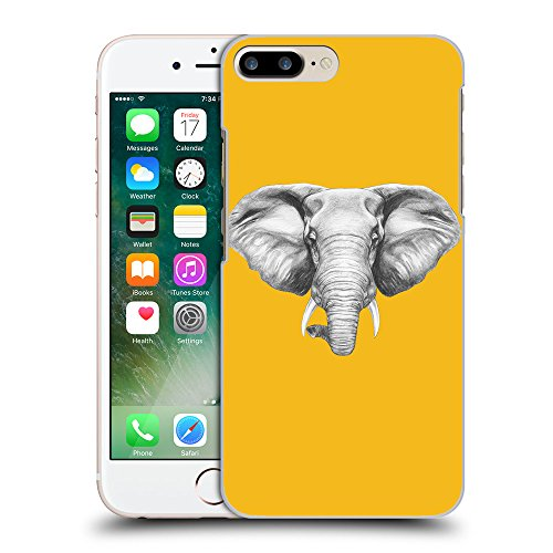 GoGoMobile Coque de Protection TPU Silicone Case pour // Q05130602 Dessin éléphant ambre // Apple iPhone 7 PLUS