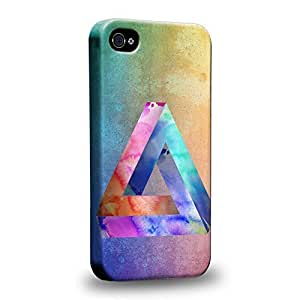 Case88 Premium Designs Art Penrose Tiling Water Color Protective Snap-on Hard Back Case Cover for Apple iPhone 4 4s by icecream design