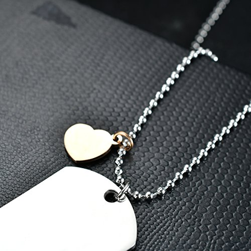 NOVLOVE To my daughter from dad Stainless Steel Dog Tag Letters To my daughter never forget how.love dad Pendant Necklace,Inspirational Gifts For daughter Jewelry by NOVLOVE (Image #4)