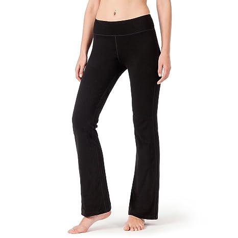 Naviskin Womens Bootcut Yoga Pants Bootleg Back Pockets Petite Regular Tall Length 29quot