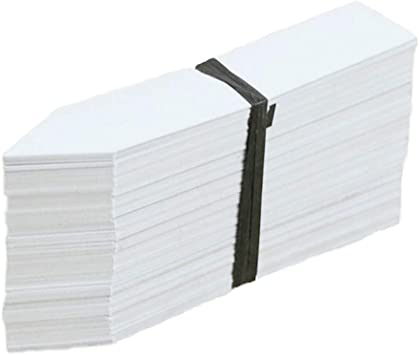 """500 x 6/"""" White Plant Stick In Labels 15cm Plastic Seed Tray Garden Marker Pen"""