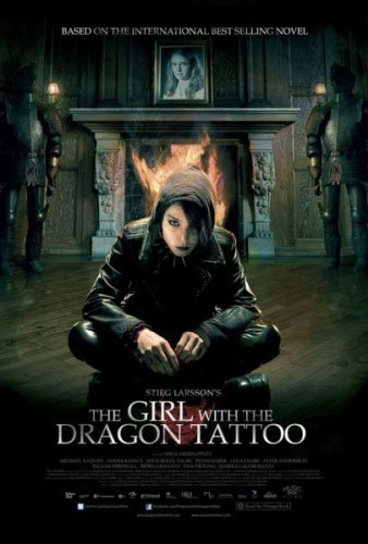The Girl With The Dragon Tattoo - Movie Poster / Print Black Hanger By