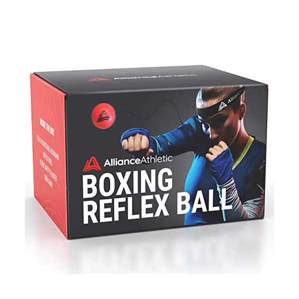 Alliance-Athletic-Boxing-Reflex-Ball-Adjustable-Headband-Reaction-Ball-Elastic-String-Train-Boxing-MMA-Fitness-Punching-Accuracy-Timing-Reflexes-Safety-Glasses-Included
