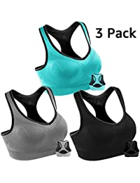 a8f22dc945545 Women Racerback Sports Bras High Impact Workout Yoga Gym Activewear Fitness  Bra
