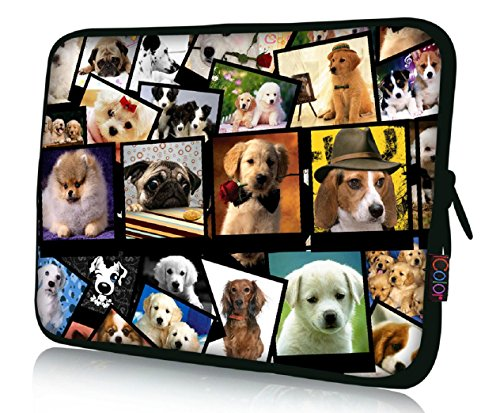 "FBAps17-003 NEW Art design many dogs 16"" 17"" 17.1"" 17.3"" 17."