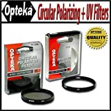 Opteka 82mm High Definition II Circular Polarizing + UV (0) Ultra Violet Haze Multi-Coated Glass Filter Kit