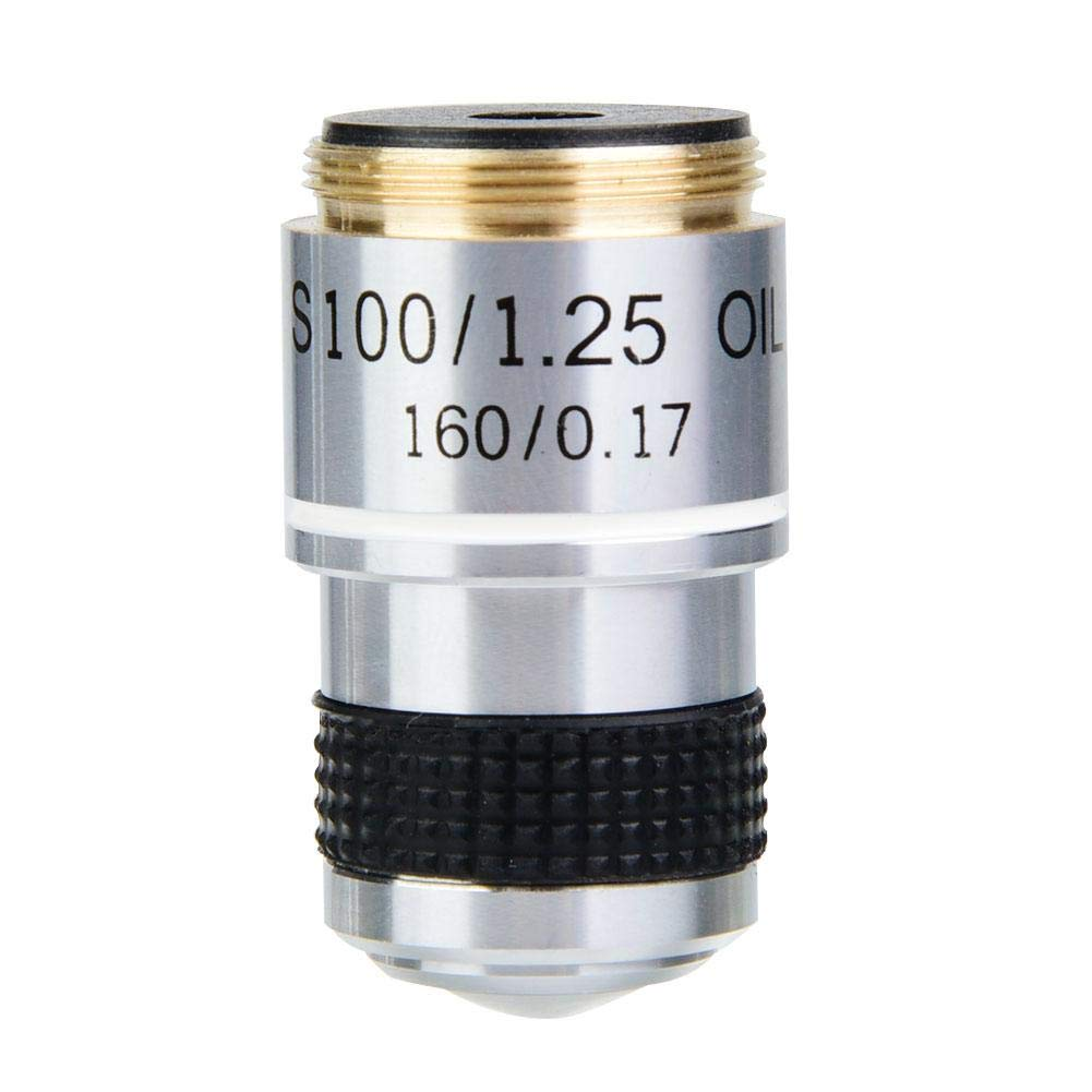 DM-WJ005 100X 185 Biological Microscope Achromatic Objectives Lens 160/0.17 by Wal front