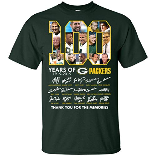 Green Bay Packers 100th Birthday Gift T-Shirt Thank You for Memories -
