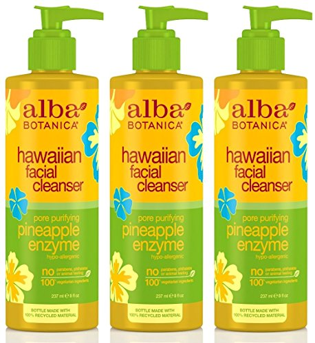 - Alba Botanica Hawaiian, Pineapple Enzyme Facial Cleanser, 8 Ounce (Pack of 3)