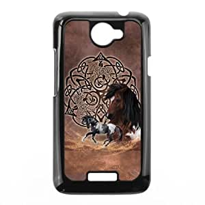 HTC One X Cell Phone Case Black Celtic Horse Layered SLI_617554