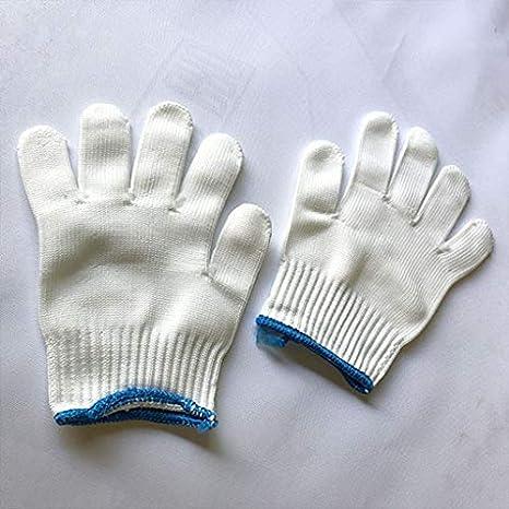 Guantes de algodón de lino blanco hidratante, 100% algodón: Amazon ...