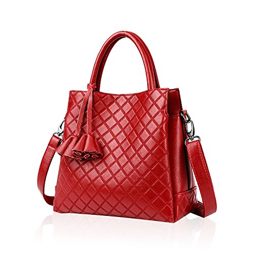 Embossed a Handbags Lady Messenger Borsa Fashion Tisdaini New tracolla rossa Pu Bag HqFT7