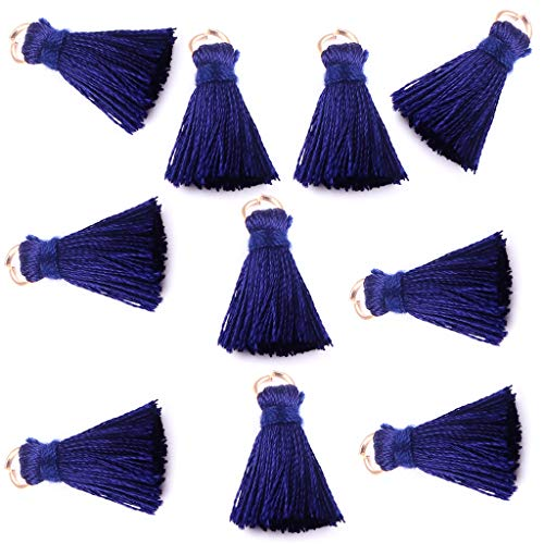 Mini Tassel Charms for Key Chains Jewelry Making,2 cm,Pack of 10 -