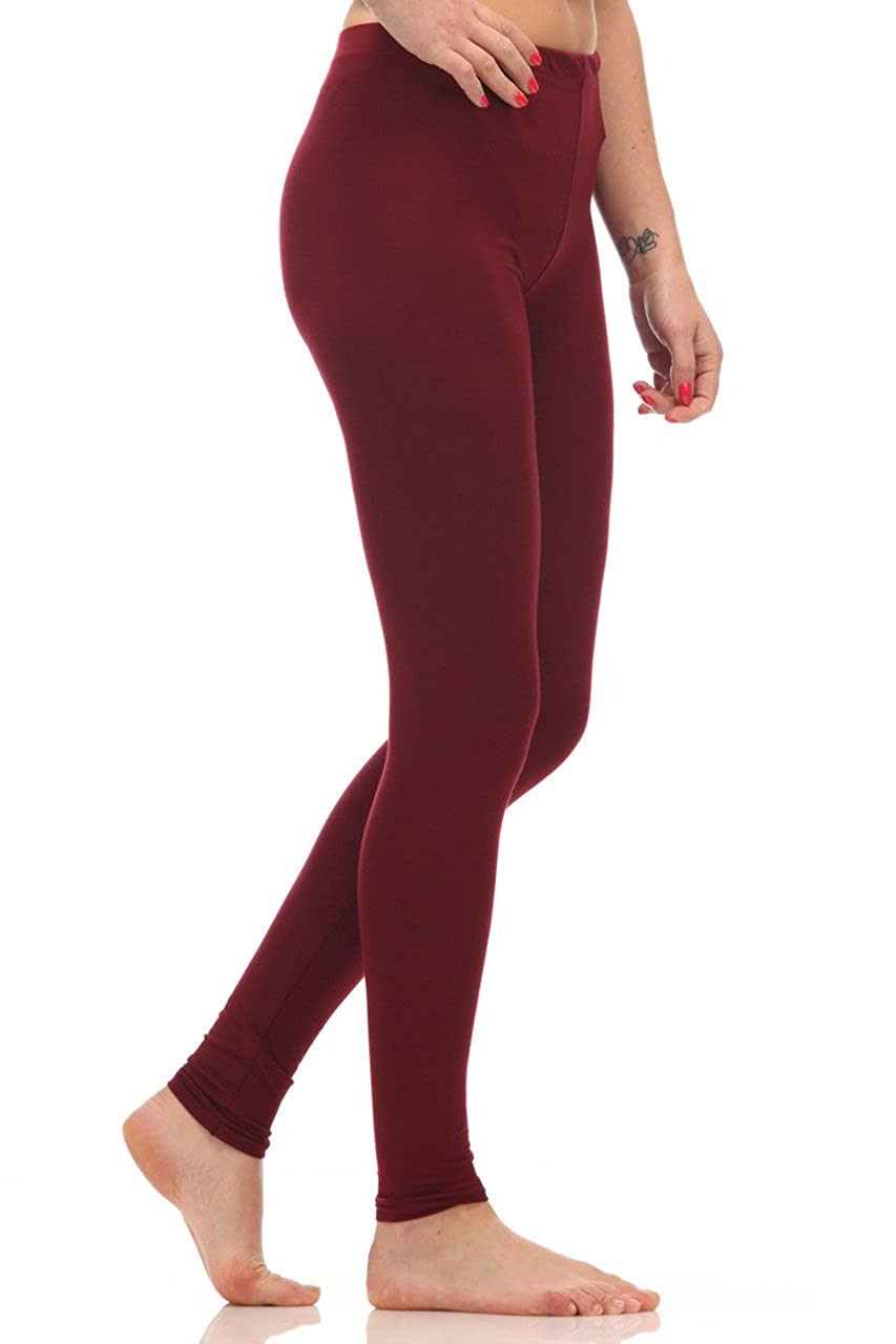 Candy Girl Clothing Plus Size Pattern Plain Leggings