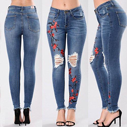 Mambain Skinny Jeans Ricamata Vita A Con Da Taglio Jeans C E Alta Skinny Sulla Da Donna Pantaloni Donna Lunghi Strappati Strappati Con Slim Skinny Pantaloni 8047 gUqCgrw