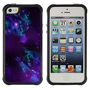 CAZZ Rugged Armor Slim Protection Case Cover Shell // Space Galaxy // Apple Iphone 5 / 5S