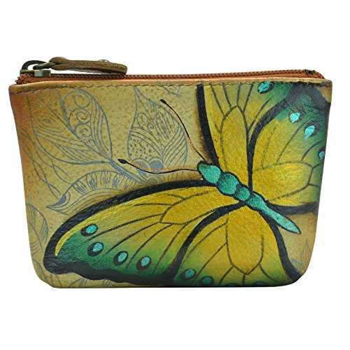 Anuschka Women's Leather Coin Purse | Genuine Soft Leather | Hand-painted Original Art | Earth Song ()