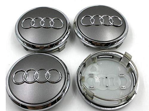 Set 4 Radkappe Nabenkappe Audi 69mm mit Schl/üsselanh/änger Tribute A3 A4 A5 A6 TT RS4 Q5 Q7 A8 A8 Allradfelge