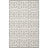 Safavieh Dhurries Collection DHU626B Hand Woven Grey and Ivory Premium Wool Area Rug (2'6″ x 4′) Review