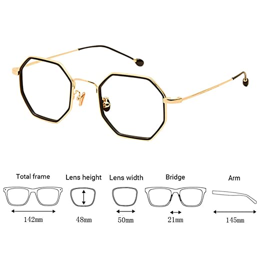1a918ab1b1 Xinvision Irregular Retro Metal Frame Ultralight Myopia Lenses Eyewear  Personality Frame Eyeglasses Short Sight Spectacles Strength -0.5~-6.0  (These are not ...