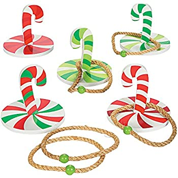christmas candy cane ring toss game kids holiday games