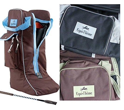 Stiefeltasche SCHWARZ/GRAU | Reitstiefeltasche | Tasche für Reitstiefel | Stiefelbeutel Equitheme