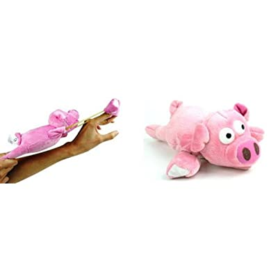 Playmaker Toys Flingshot Flying Pig, Pink: Toys & Games