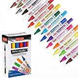 ZEYAR Paint Markers, Expert of Rock Painting, Oil-Based, Medium Point,18 Colors,Water and Fade Resistant, Odorless, Xylene Free, Metal Penholder, Professional Paint Pen Manufacturer