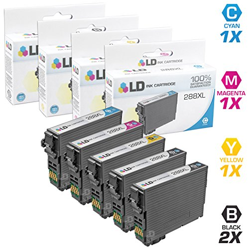 LD Products Remanufactured Ink Cartridge Replacement for Epson T288XL ( Black,Cyan,Magenta,Yellow , 5-pack )
