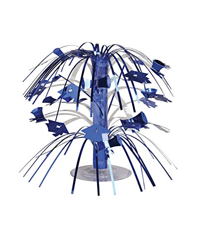 Decoration Cascade (Creative Converting Cascade Graduation Centerpiece, Mini, Blue)