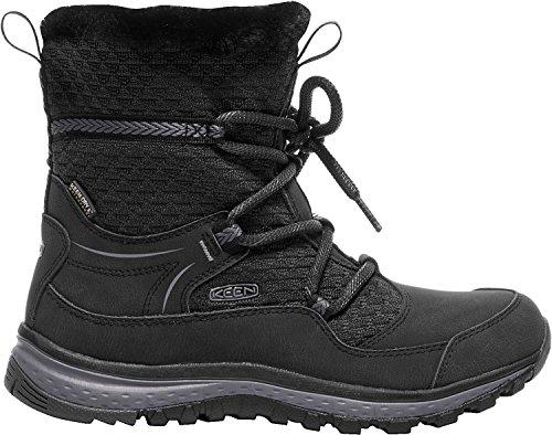 KEEN Women's Terradora Apres Wp-w Hiking Boot, Black/Magnet, 9.5 M US by KEEN