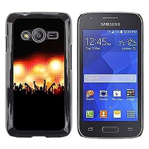 Be Good Phone Accessory // Dura Cáscara cubierta Protectora Caso Carcasa Funda de Protección para Samsung Galaxy Ace 4 G313 SM-G313F // Concert Crowd People Hands Stage Lights