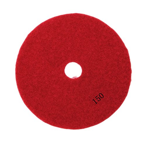 MagiDeal 3'', 4'' Diamond Polishing Pad Grinding Disc for Granite Marble Concrete Stone - 150#, 4'' 3' Diamond Polishing Pad
