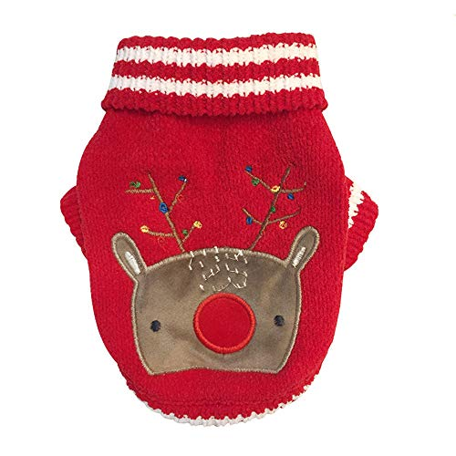 ETHELDING Christmas Pet Dog Cat Clothes Chenille Cute