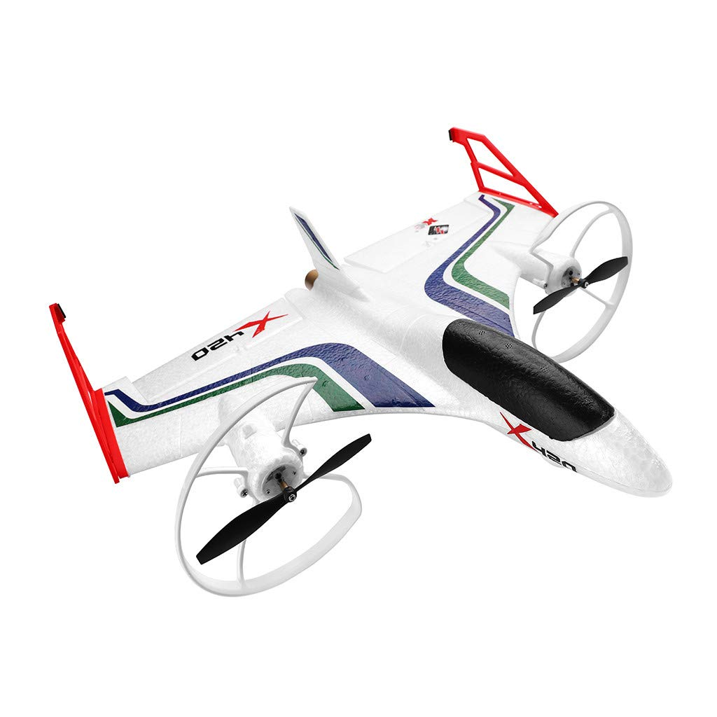 Hisoul X420 RC Airplane - 2.4G 6CH 3D/6G Aerobatic Vertical Take-Off Remote Control Glider - 340mm Wingspan Fixed-Wing RC Airplane, for Beginners Best Gift (♥ White) by Hisoul (Image #1)