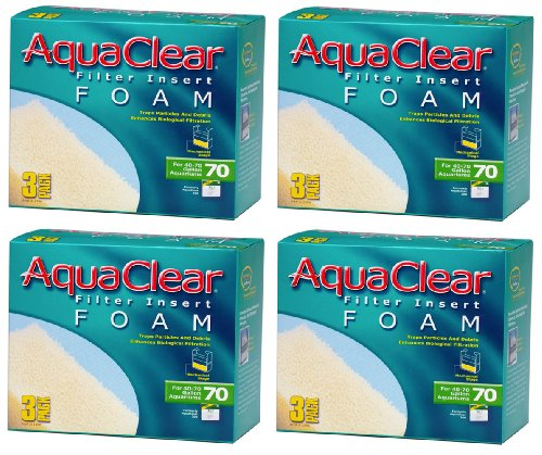 Aquaclear Foam Inserts, 3-Pack (12-Pack, 70-Gallon) ()