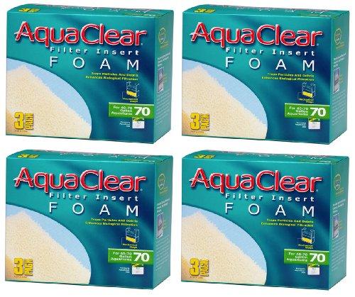 Aquaclear Foam Inserts, 3-Pack (12-Pack, 70-Gallon)