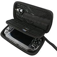 Khanka All-in-one Double Compartment Hard Carry Travel Case Bag For Sony Psvita PS Vita 1000 and PSVita Slim (PSV 2000…