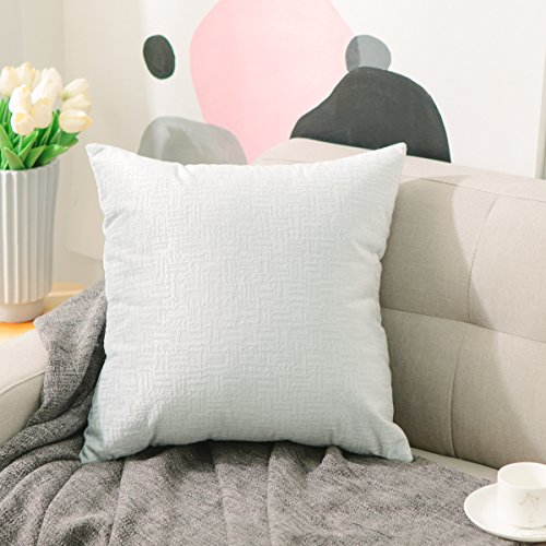 Home Brilliant Plush Velvet Textured Christmas Throw Euro Pillow Sham Cushion Cover for Sofa, 26