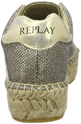 26 Or Gold Femme Replay Espadrilles Winn w84Wf
