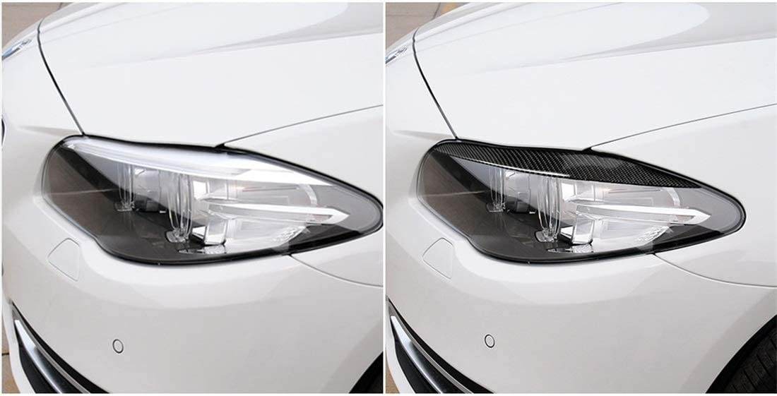 Color : Color1 Geeignet for BMW 5er F10 2010-2013 Scheinwerferblenden Drei Farbe Carbon-Faser-Auto-Lampe Augenbraue dekorative Aufkleber