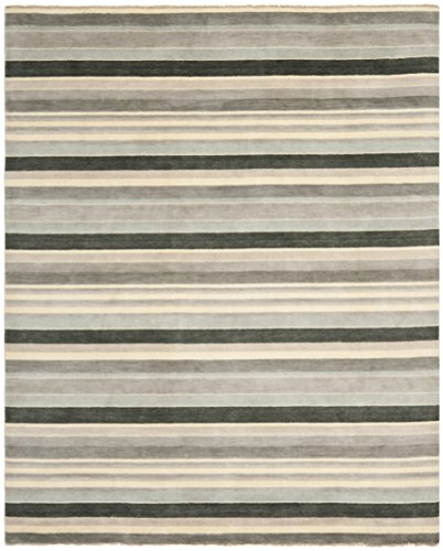 Safavieh Tibetan Collection TIB318A Hand-Knotted Grey and Multi Wool Area Rug (8' x 10')