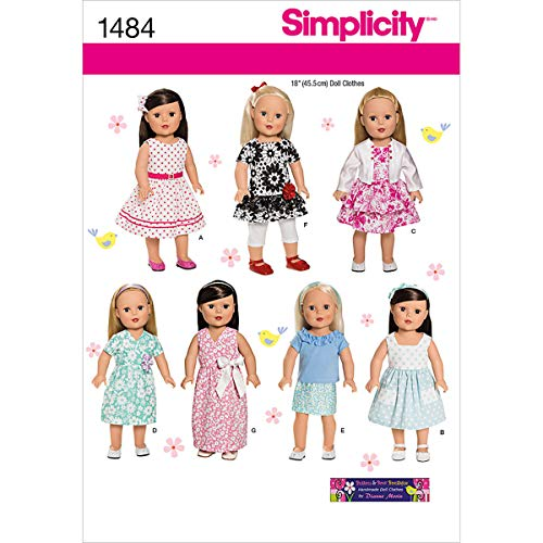 Simplicity 1484 Doll Clothes Sewing Patterns for 18'' Dolls